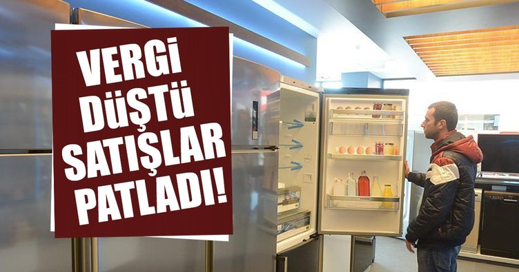Beyaz eşya satışları ÖTV indirimiyle 3 ayda 2 milyonu geçti