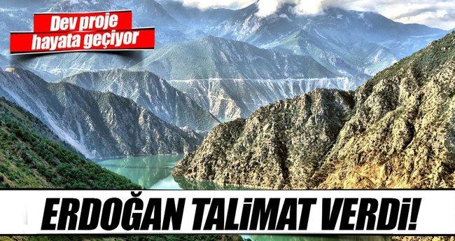 Erdoğan'ın talimat verdiği Çoruh Nehri Projesi hayata geçiyor