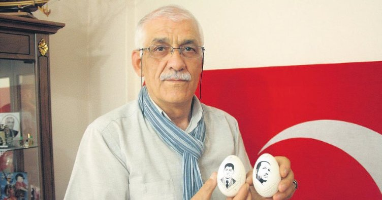 Yumurta kabuğuna 15 Temmuz'u işledi