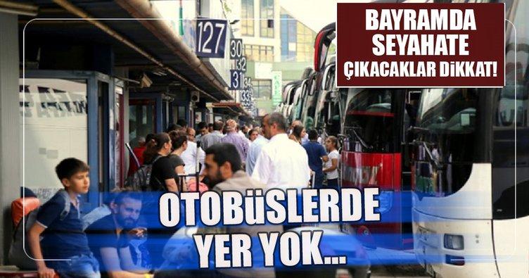Otobüs firmalarında Ramazan Bayramı yoğunluğu