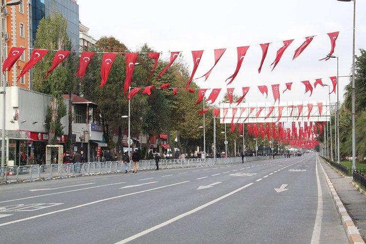 Vatan Caddesi'nde 29 Ekim coşkusu