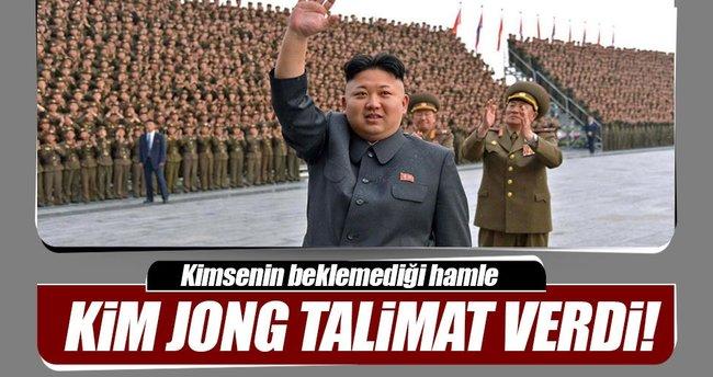 Kim Jong talimatı verdi! Beklemedik hamle