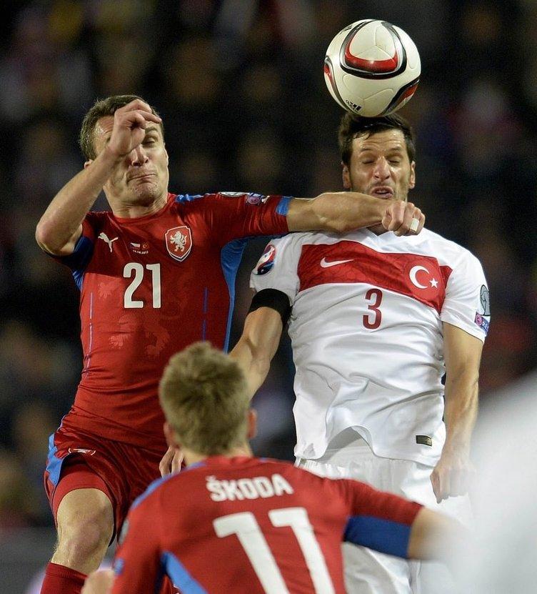 Çek Cumhuriyeti-Türkiye maçından kareler