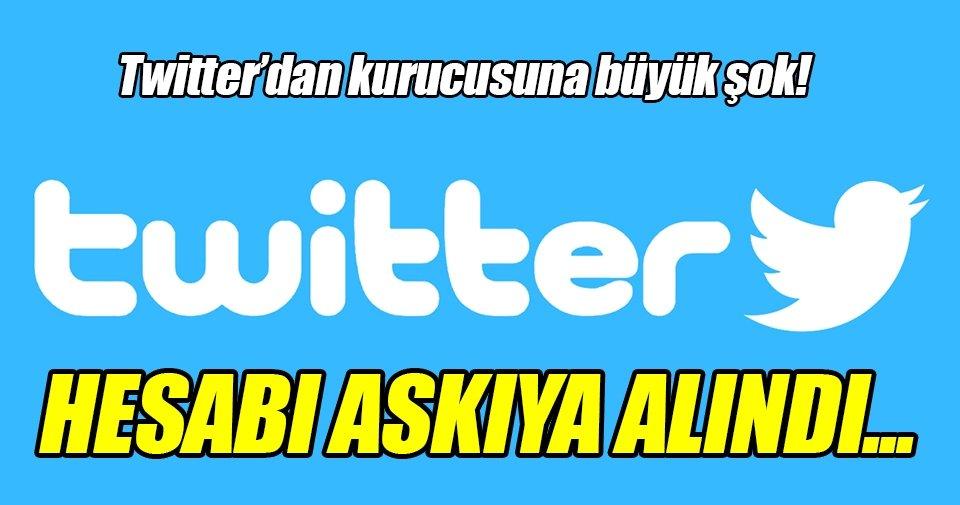 Twitter, kurucusunun hesabını yanlışlıkla askıya aldı!
