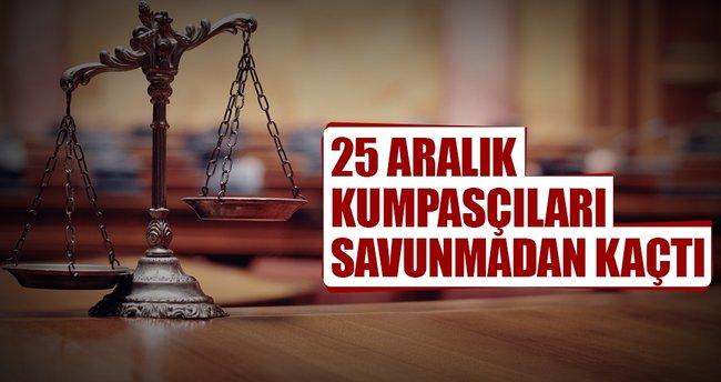 25 Aralık sanıkları savunma yapmadı