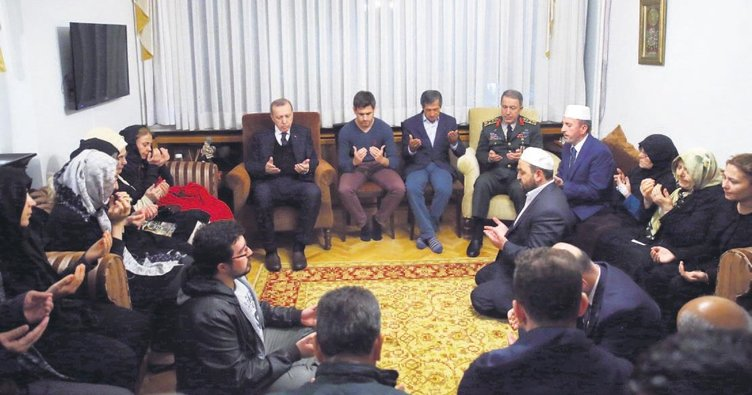 Cumhurbaşkanı Erdoğan'dan şehit Aydın'ın evine taziye ziyareti
