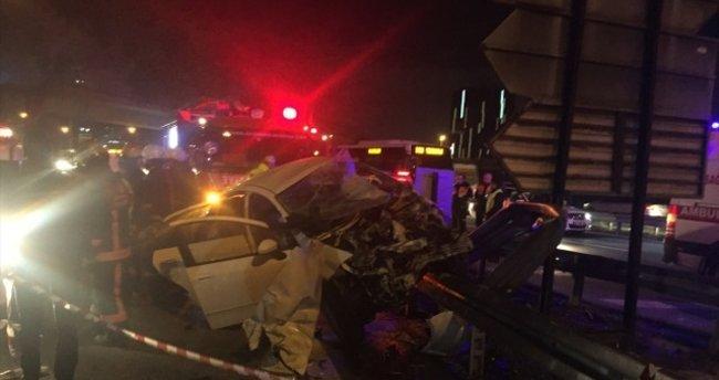 Bahçelievler'de trafik kazası: 2 ölü, 2 yaralı