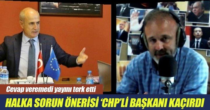 'Halka sorun' önerisi CHP'li başkanı kaçırdı