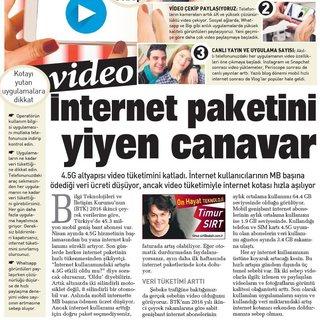 TİMUR SIRT / İnternet paketini yiyen canavar video
