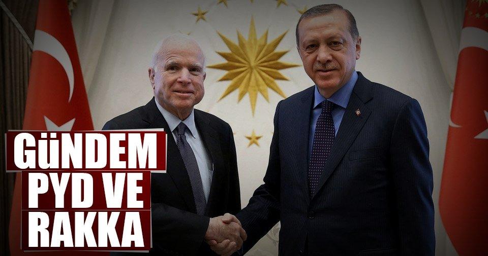 Erdoğan ile McCain'in gündemi PYD ve Rakka