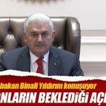 Başbakan Binali Yıldırım, milyonların beklediği açıklamayı yapıyor - CANLI