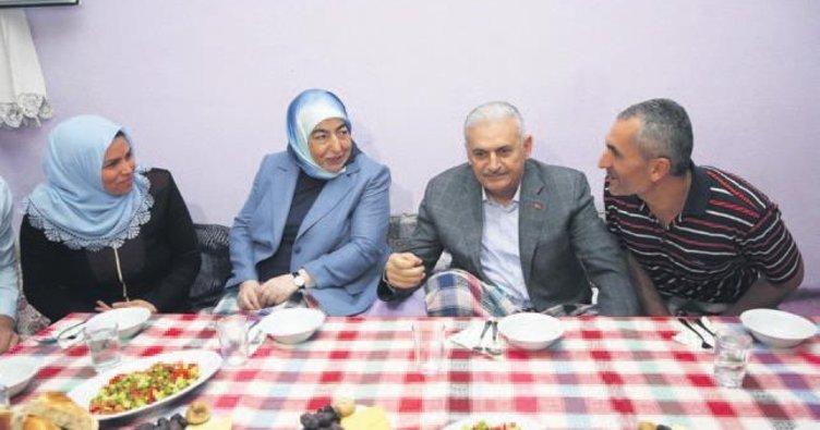 Başbakan Yıldırım iftar sürprizi yaptı
