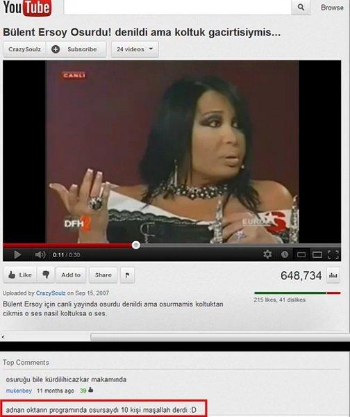 Youtube'un efsane yorumları