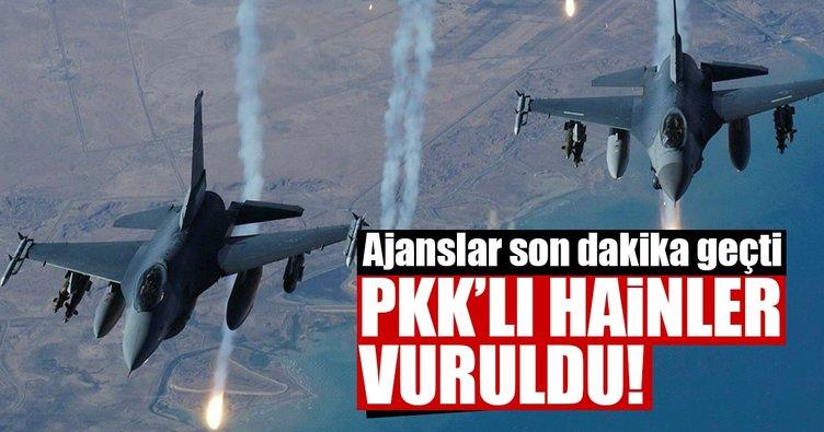 Son dakika: PKK'lı hainlerin tepesine bomba yağdı