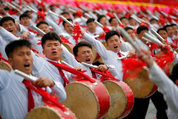 Kuzey Kore'de kongre kutlamaları