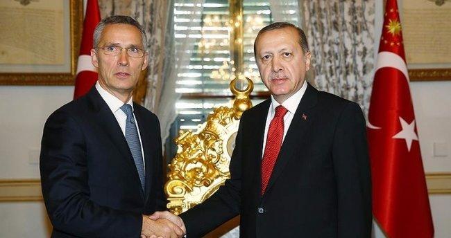 Cumhurbaşkanı Erdoğan NATO Genel Sekreteri'ni kabul etti