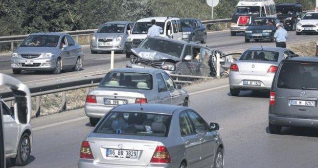 Dönüş yolunda kaza