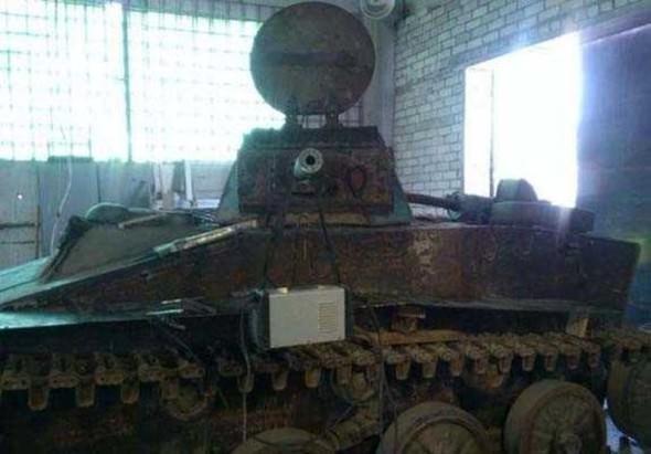 Kendi başına tankını yaptı!
