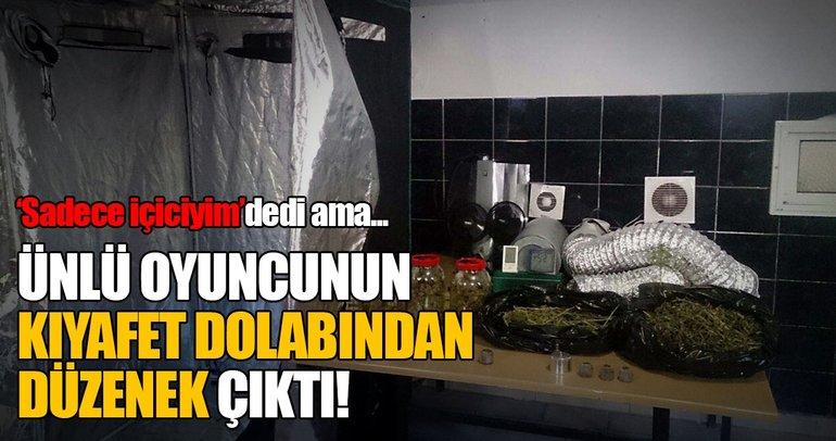 Oyuncu Selim Erdoğan'ın elbise dolabında kenevir serası!