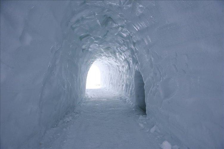 Polonya'da buzdan dev labirent