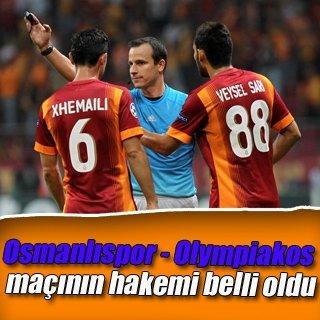 Osmanlıspor - Olympiakos maçının hakemi belli oldu