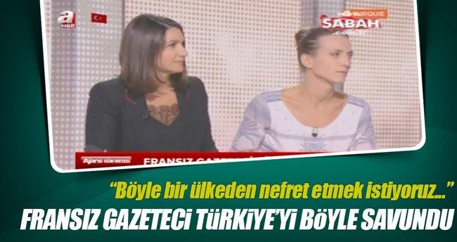 Fransız gazeteci Türkiye'yi böyle savundu