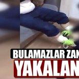 Bacağına sardığı uyuşturucu maddeyle yakalandı