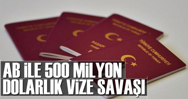 AB ile 500 milyon dolarlık vize savaşı