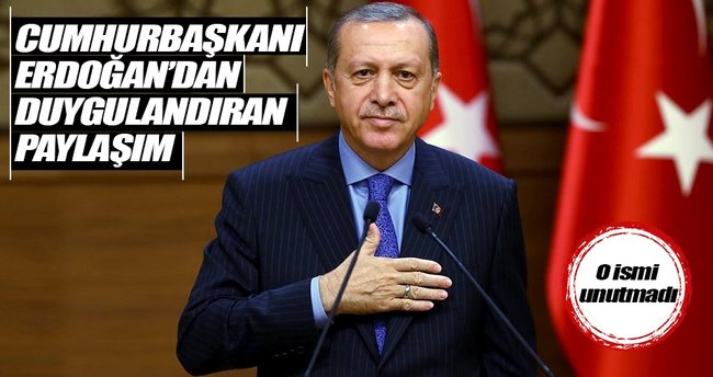 Erdoğan'dan İzzetbegoviç paylaşımı
