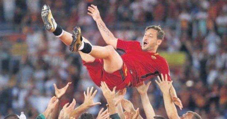 Totti sahalara böyle veda etti
