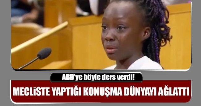 Küçük kızın 'siyahi' isyanı: ABD'ye ders verdi!