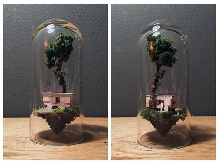 Cam tüplere yaşam veren sanatçı