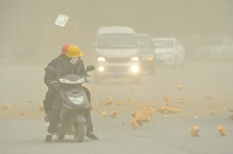 Çinde kum fırtınası