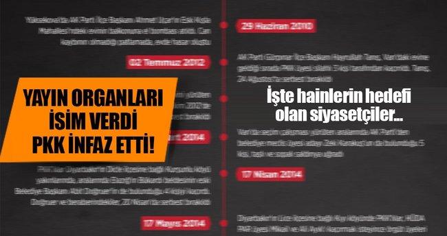 PKK kendisine muhalif gördüğü siyasetçileri hedef seçti!