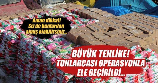 Adana'da 16 ton sahte deterjan ele geçirildi