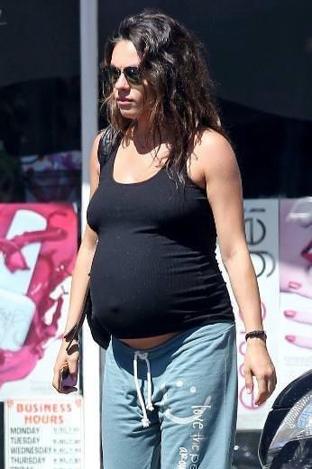 Mila Kunis en çok tartışılan hamile ünlü