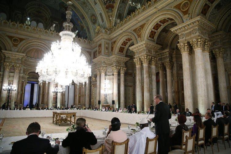 Erdoğan Dolmabahçe Sarayı'nda liderlere yemek verdi