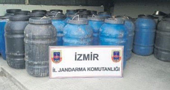 Bornova'da sahte içki operasyonu