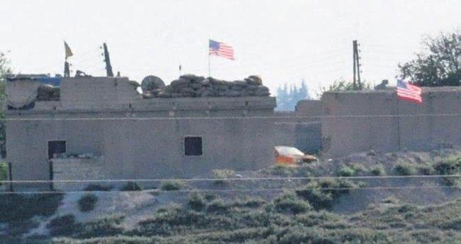 Tel Abyad'a ABD bayrağı