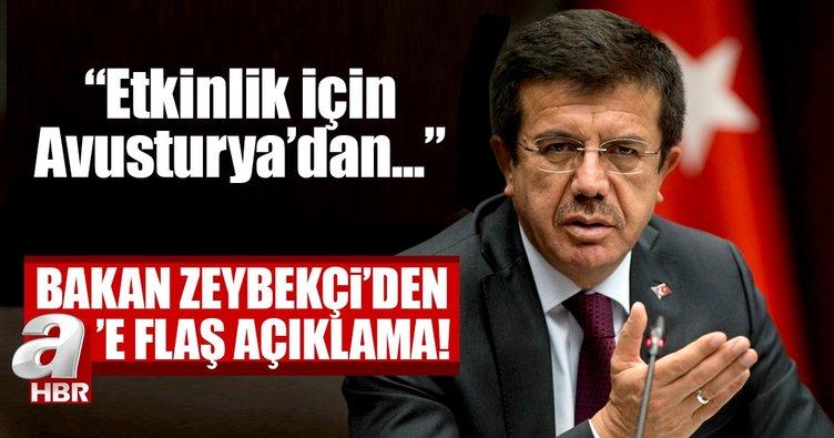 Son dakika... Ekonomi Bakanı Zeybekci: Etkinlik için Avusturya'dan talebimiz olmadı