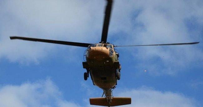 Ege'de askeri helikopter düştü