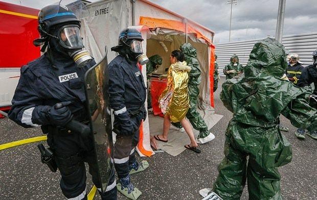 Euro 2016 için kimyasal saldırı tatbikatı