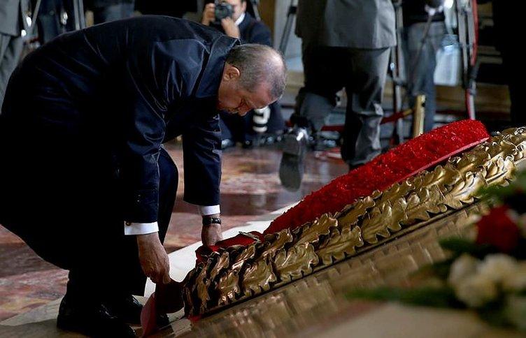 Anıtkabir'de Cumhuriyet Bayramı töreni