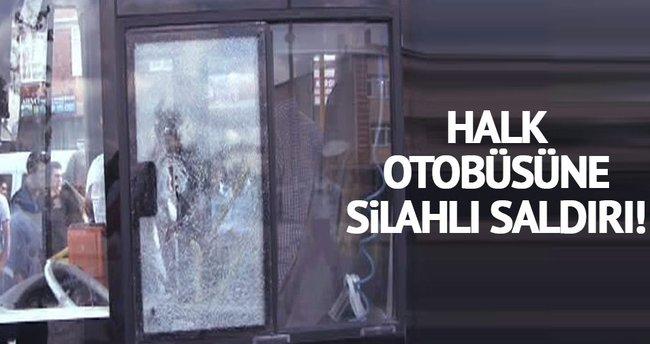 Sancaktepe'de halk otobüsüne silahlı saldırı