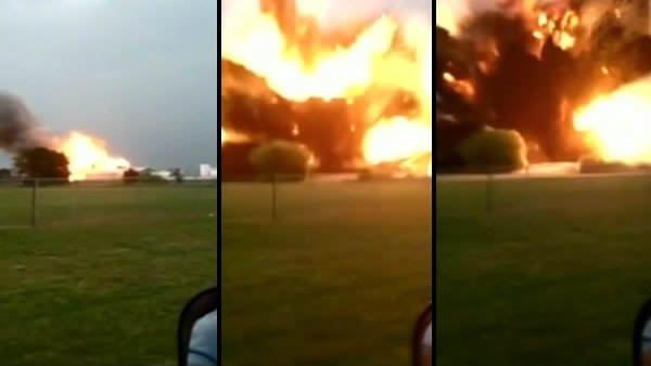 Teksas'ta dev patlama