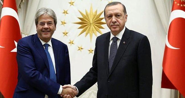 Cumhurbaşkanı Erdoğan, İtalya Dışişleri Bakanını kabul etti!