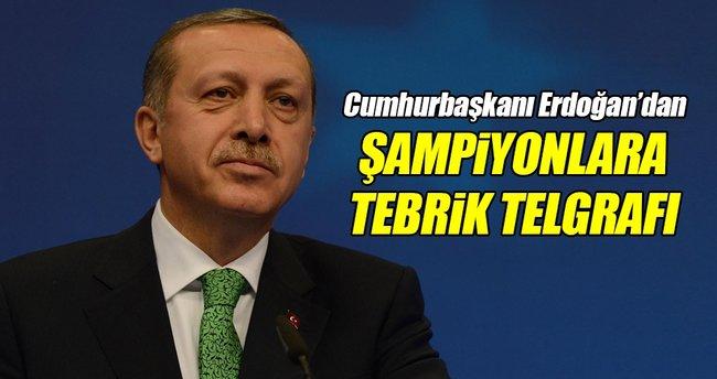 Cumhurbaşkanı Erdoğan'dan madalya kazanan sporculara tebrik telgrafı
