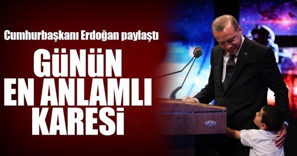 Cumhurbaşkanı Erdoğan'ın paylaşımı binlerce beğeni aldı