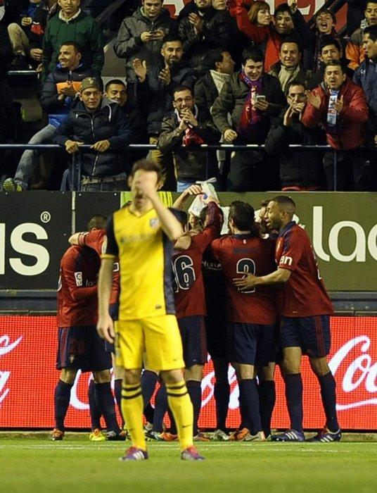 Atletico'ya Osasuna şoku