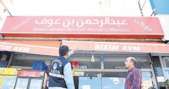 Yabancı tabelalara Büyükşehir engeli Mehmet Güzel Erdal Ata Yaser